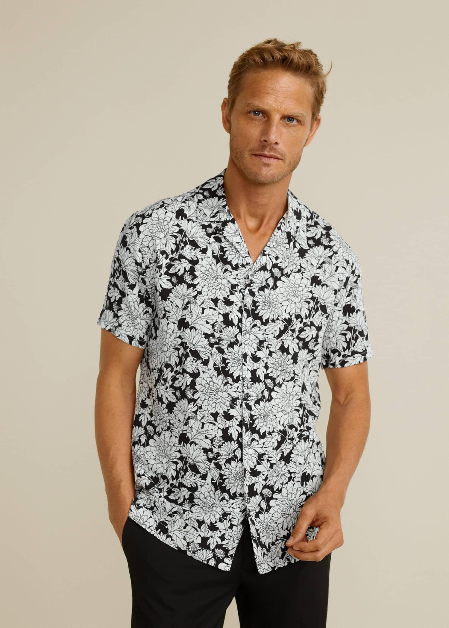 Camisa regular fit estampado floral Hombre | Mango Man España
