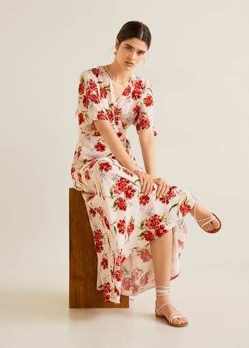 dc88237e0a4 Floral print dress - Details of the article 3