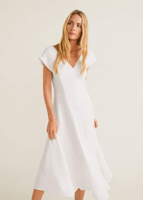 77a34f18f1b Мягкое приталенное платье - Средний план