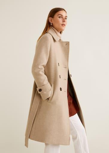 b2eba8c9cc Double-breasted wool coat
