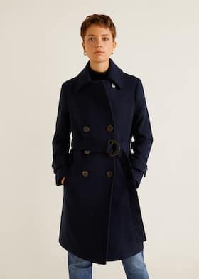 62bb8897fc Dwurzędowy płaszcz z wełny - Plan średni