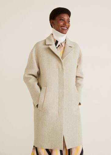 def6412768 Unstructured wool-blend coat