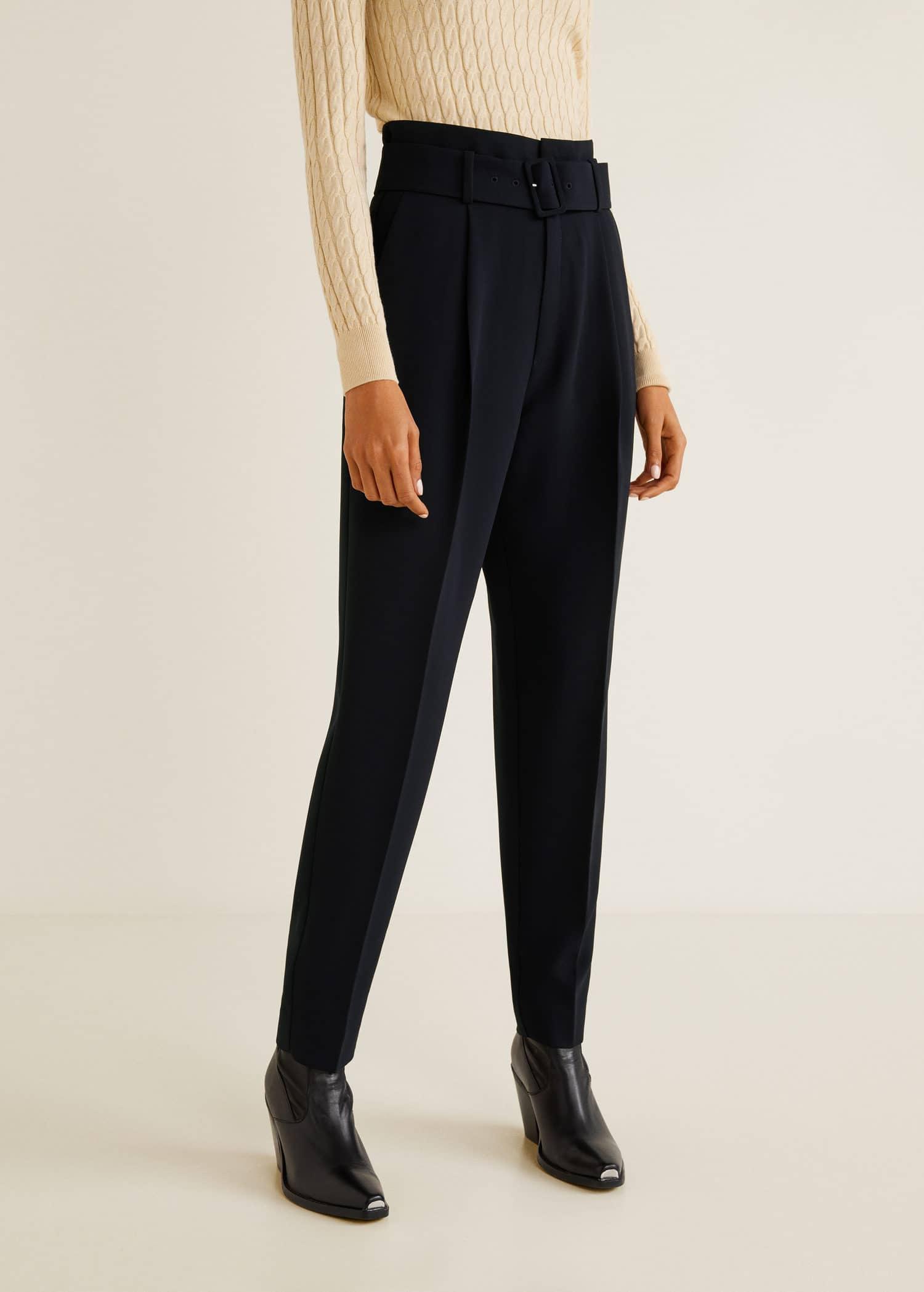 Cantidad limitada mejor sitio lindos zapatos Pantalón tiro alto cinturón - Mujer   MANGO Uruguay