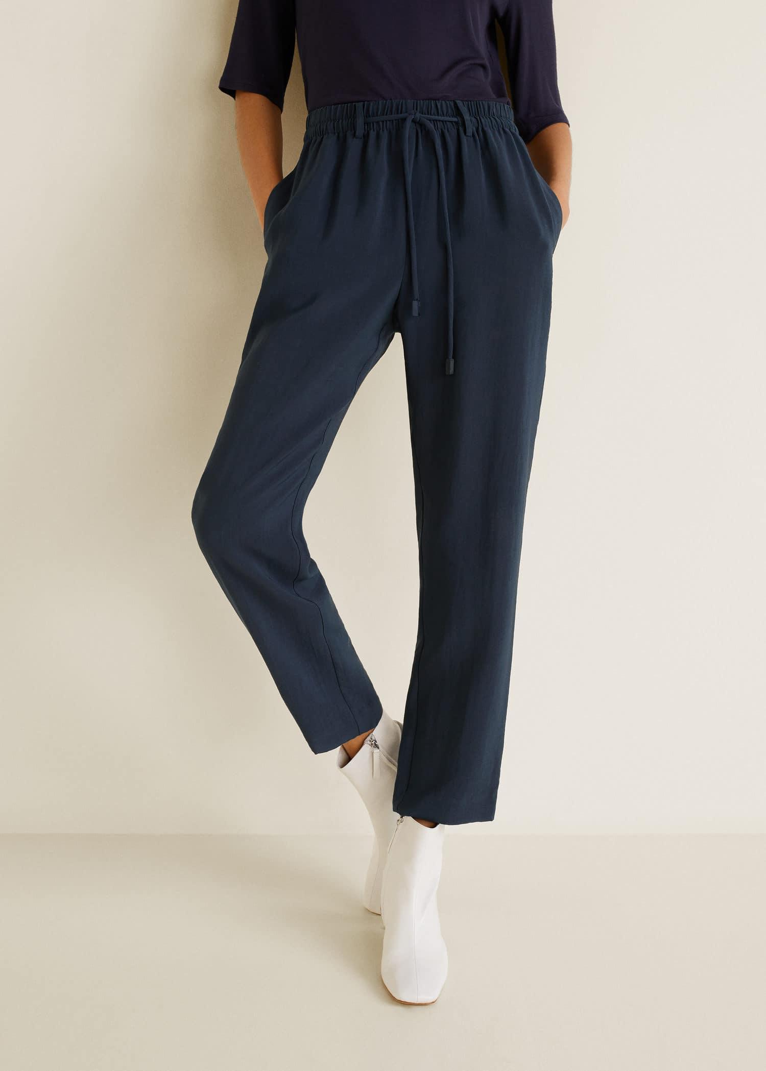 Pantalon taille élastique - Femme   Mango