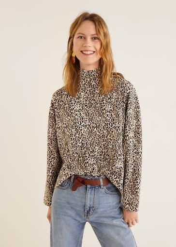 haut de gamme véritable site réputé Beau design Leopard print sweater