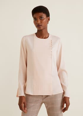 72ce7706f5d8af Buttons detail blouse - Woman   Mango Sri Lanka