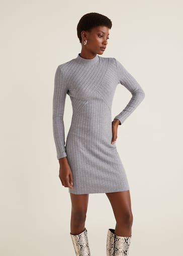 49424646504 Ribbed jersey dress - Women