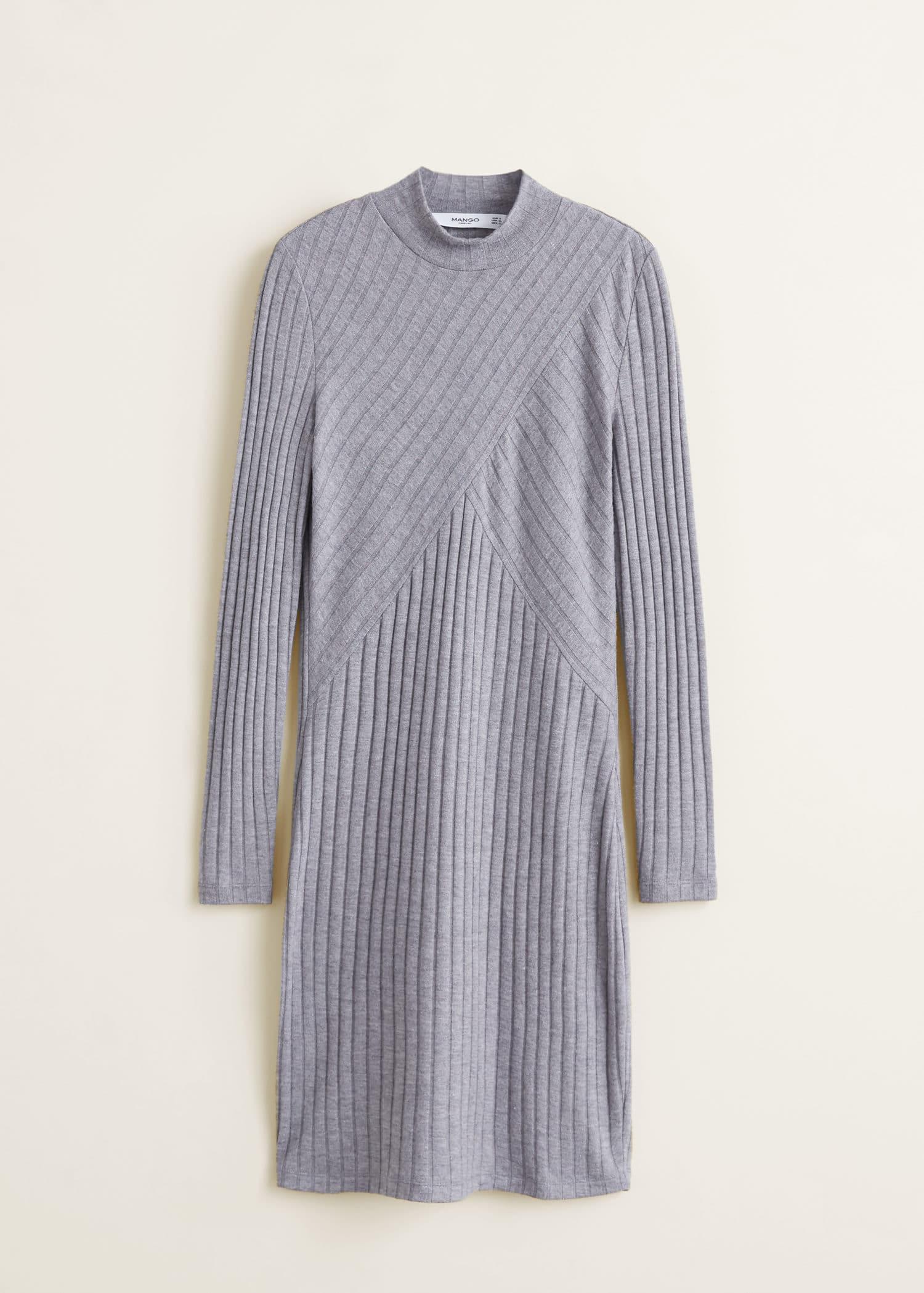 3d0fdc62d Robe en maille côtelée - Femme | MANGO Côte d'Ivoire