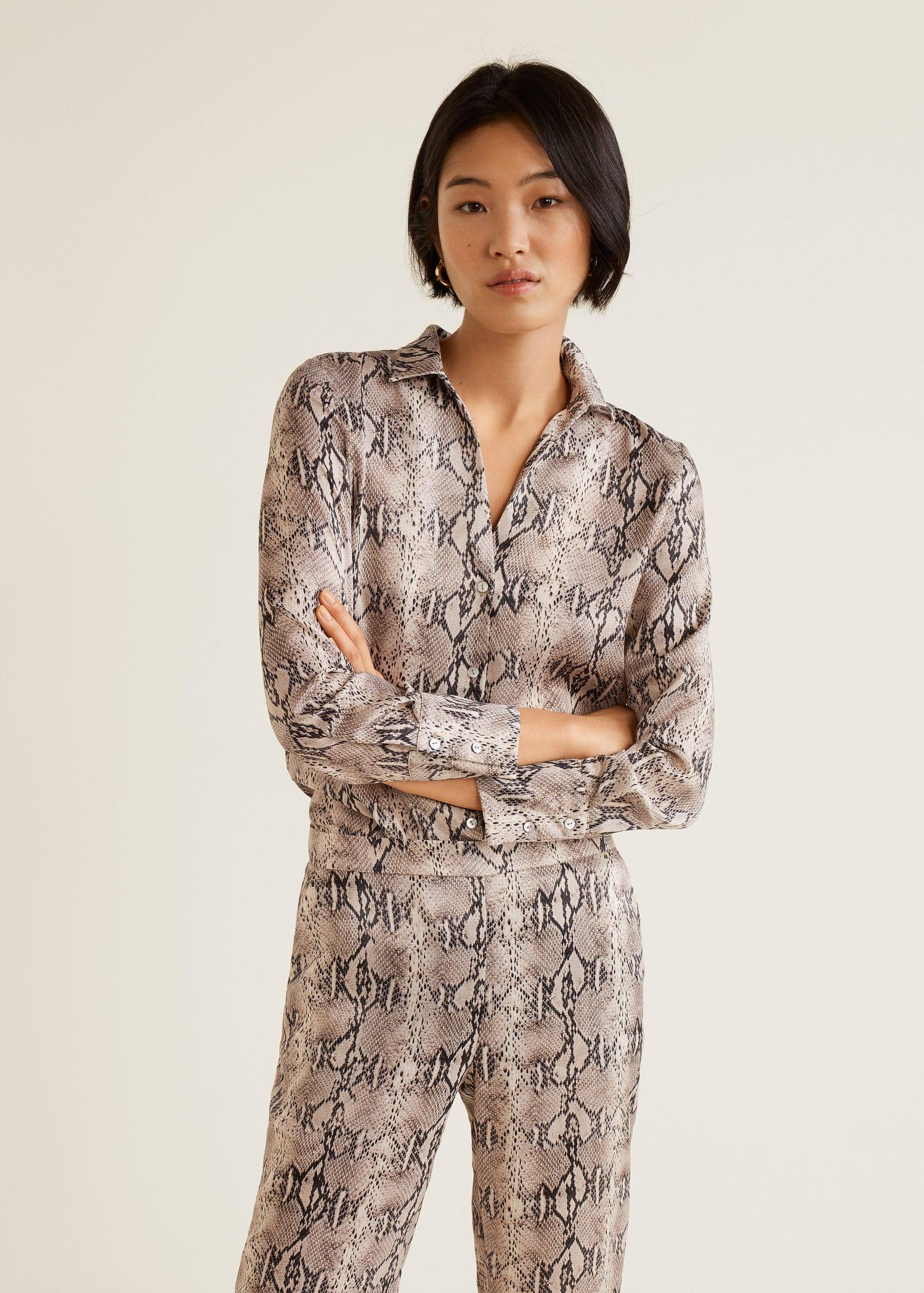 extremadamente único calidad superior amplia selección de colores Camisa estampado serpiente - Mujer | Mango España