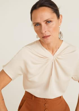 0c793fd92f Pleat satin top - Details of the article 2
