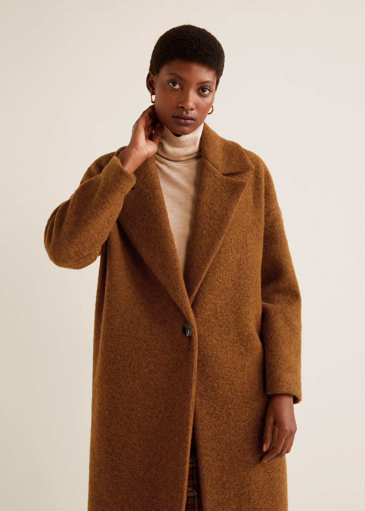 manteau déstructuré mango laine