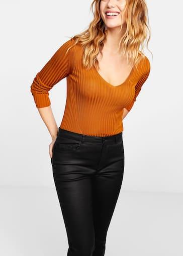 057a863d0 Coated slim-fit Carmen jeans