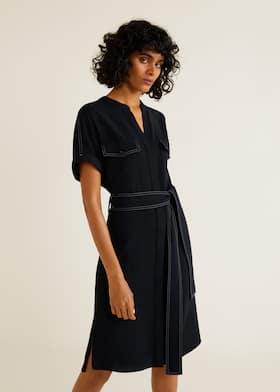 35cc0688561de Contrast seam dress - Medium plane