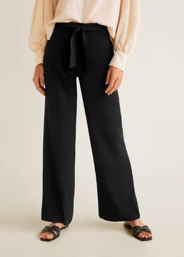 4c69c21d075cc Pantalon droit fluide - Femme | Mango France