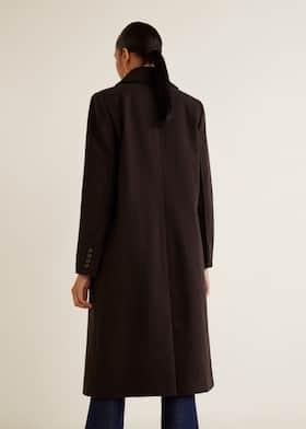 8be60eb66dc1 Structured wool coat - Women | Mango USA