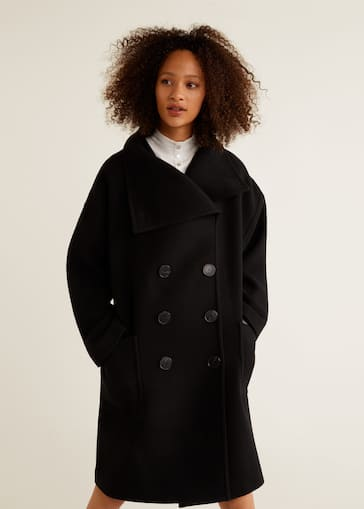 1072fe9e9f2be Double-breasted wool coat - Medium plane
