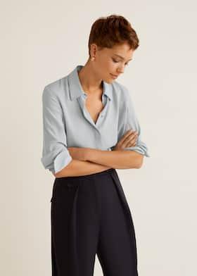 6ca15870cf Checked linen dress. $79.99$39.99. Contrasting seams shirt - Medium plane