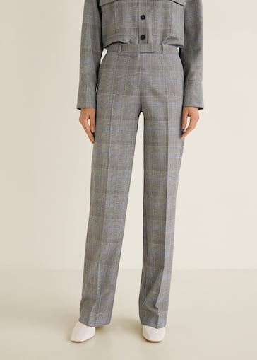 6cf97d06920 Check suit pants - Woman