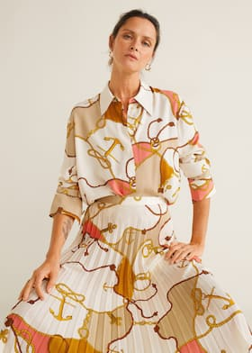 Falda plisada cadenas - Mujer  fe567a4300ff