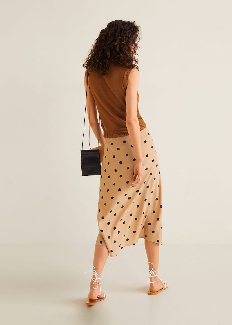 Polka dots midi skirt - Reverse of the article c65af0394