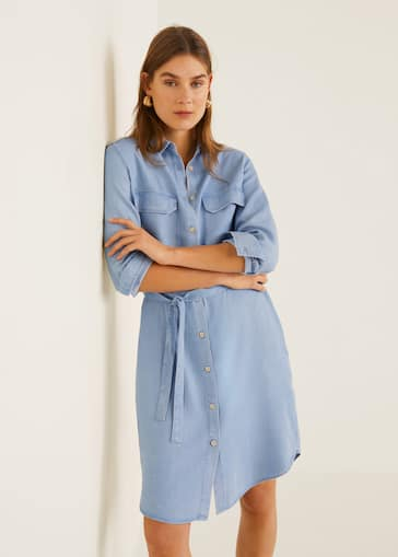 5e3f11e10023 Robe soft style denim - Plan moyen