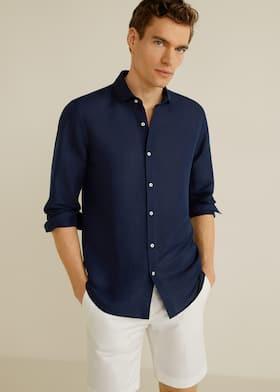 e4a9c1e8ac6 Slim-fit linen shirt - Medium plane
