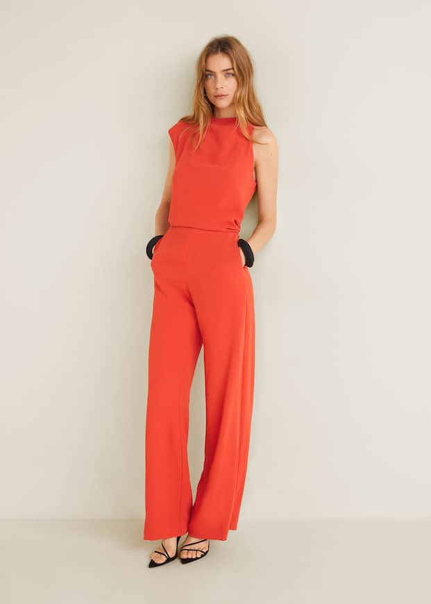 Asymmetric Long Jumpsuit by Mango