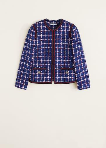 41228c1c2 Tweed jacket - Woman | Mango Iceland