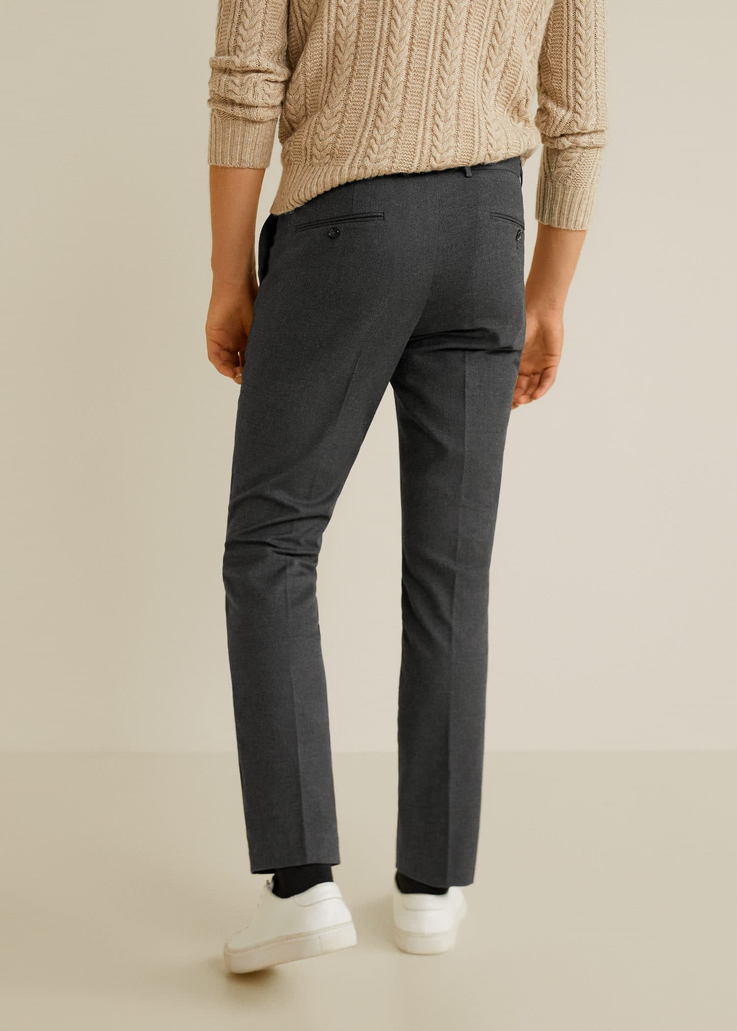 Parfait Regular Fit Pleated Chino Trousers