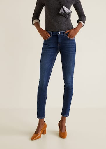 c815ec578cd Jeans skinny push-up Kim - Plano medio