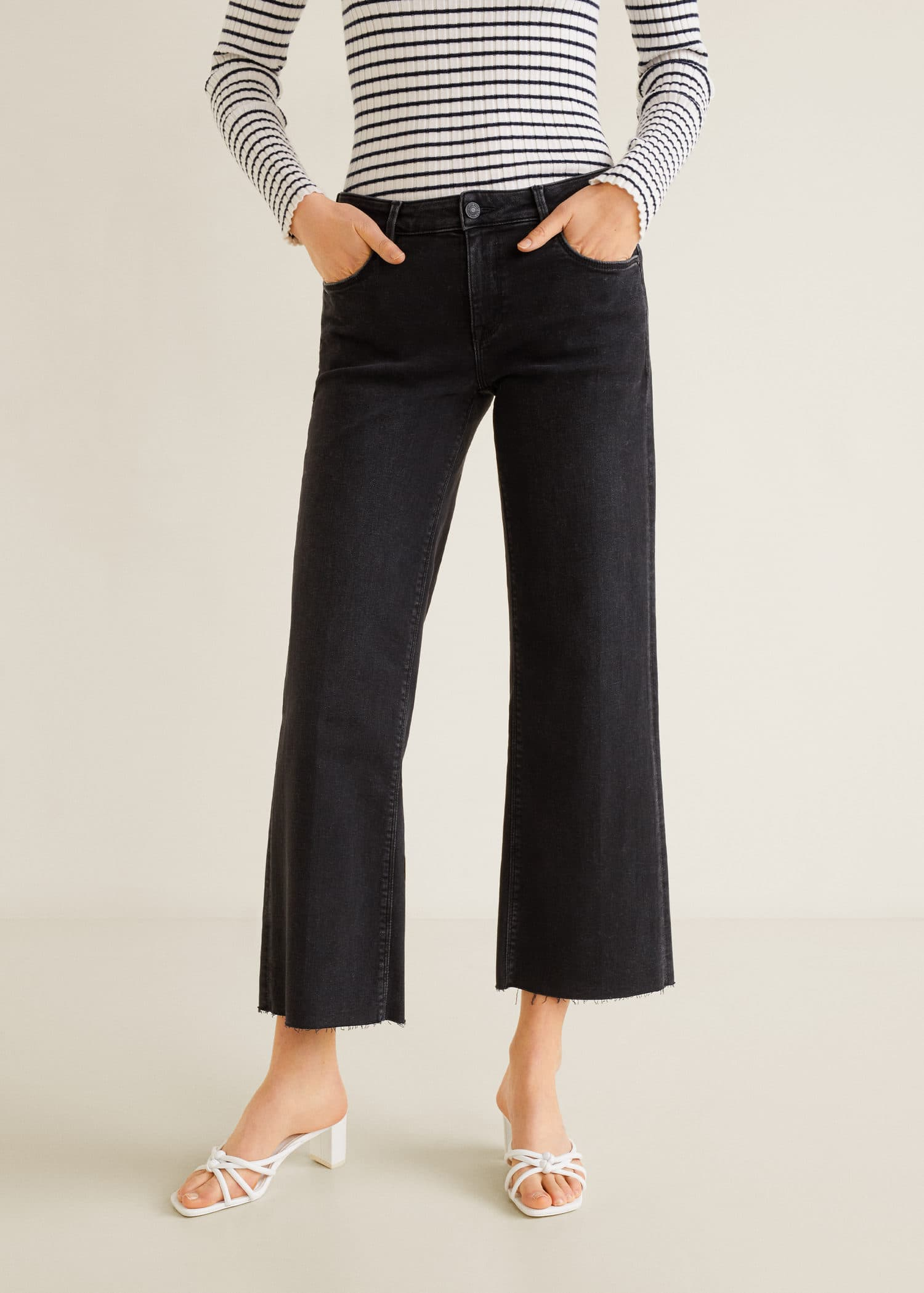Mango Audrey Macedonia Jeans Crop Woman pxwgWPtOqP