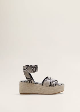 a7127af9b9e6d Snake-effect wedge sandals - Article without model