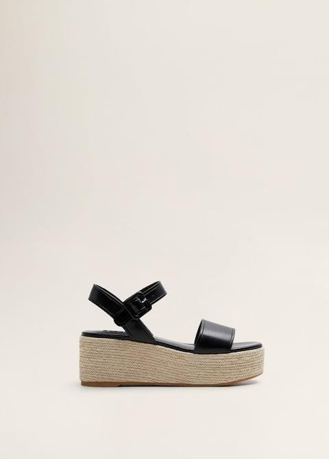 60a44034619 Gevlochten sandalen met sleehak - Artikel zonder model