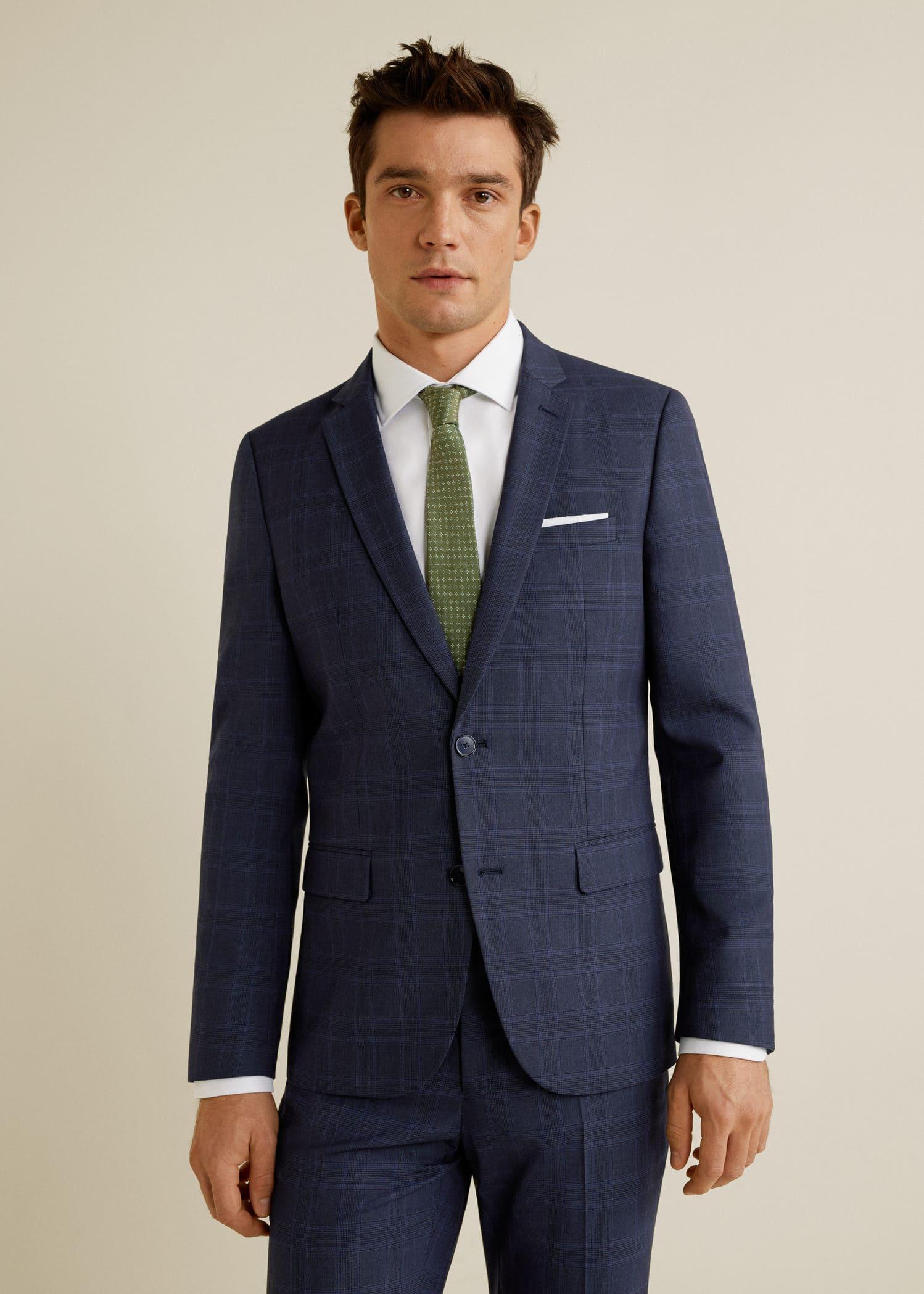 Homme Super Côte Mango Fit Veste De Costume Slim Man D'ivoire C7nqxXwv