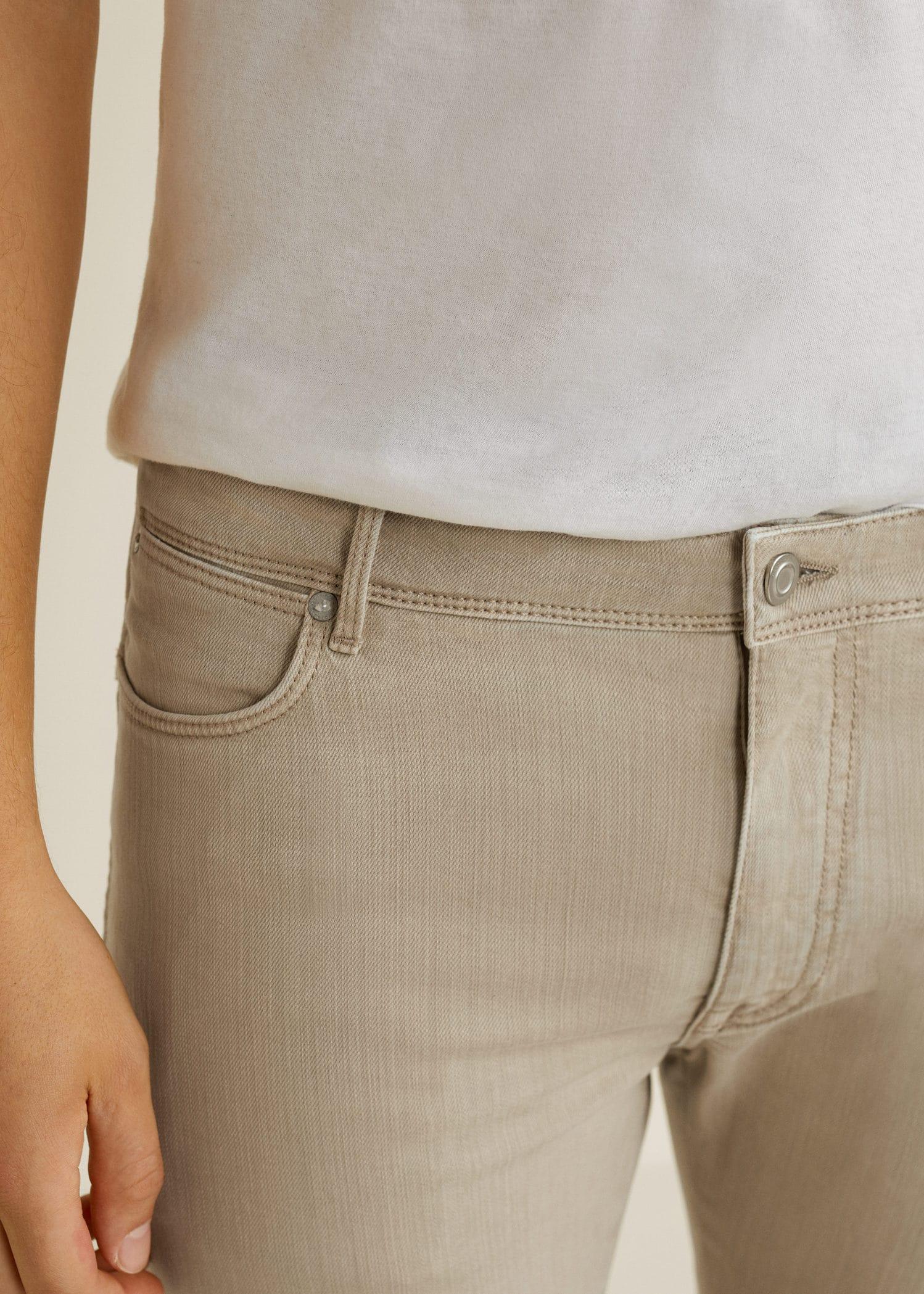 Jeans Slim Man Mango Fit España Hombre Beige Patrick rv5Ynqr