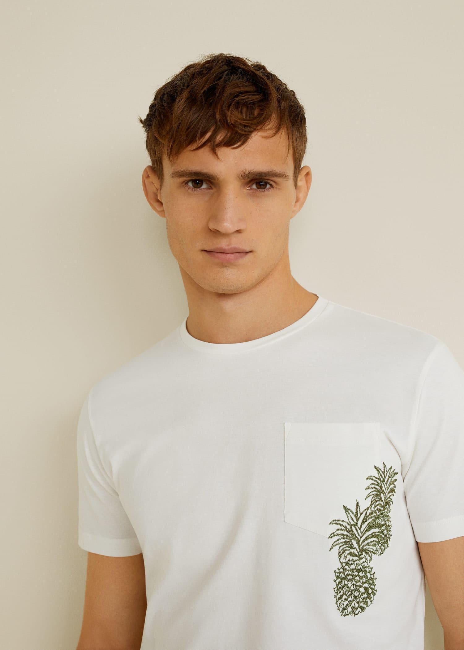 Camiseta algodón detalle bordado - Detalle del artículo 1