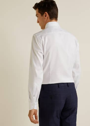 Tailored Fit Overhemd.Chemise Tailored Slim Fit Structuree