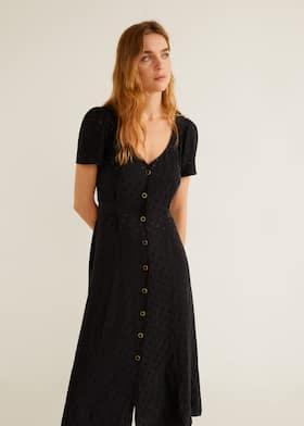 df1dbdfe87 Φόρεμα ζακάρ πουά - Μεσαίο πλάνο