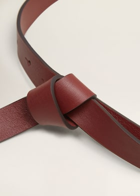 000bbd038 Knot leather belt - Women | Mango USA