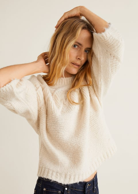cheapest dirt cheap exquisite design Contrasting knit sweater - Woman   Mango Kosovo
