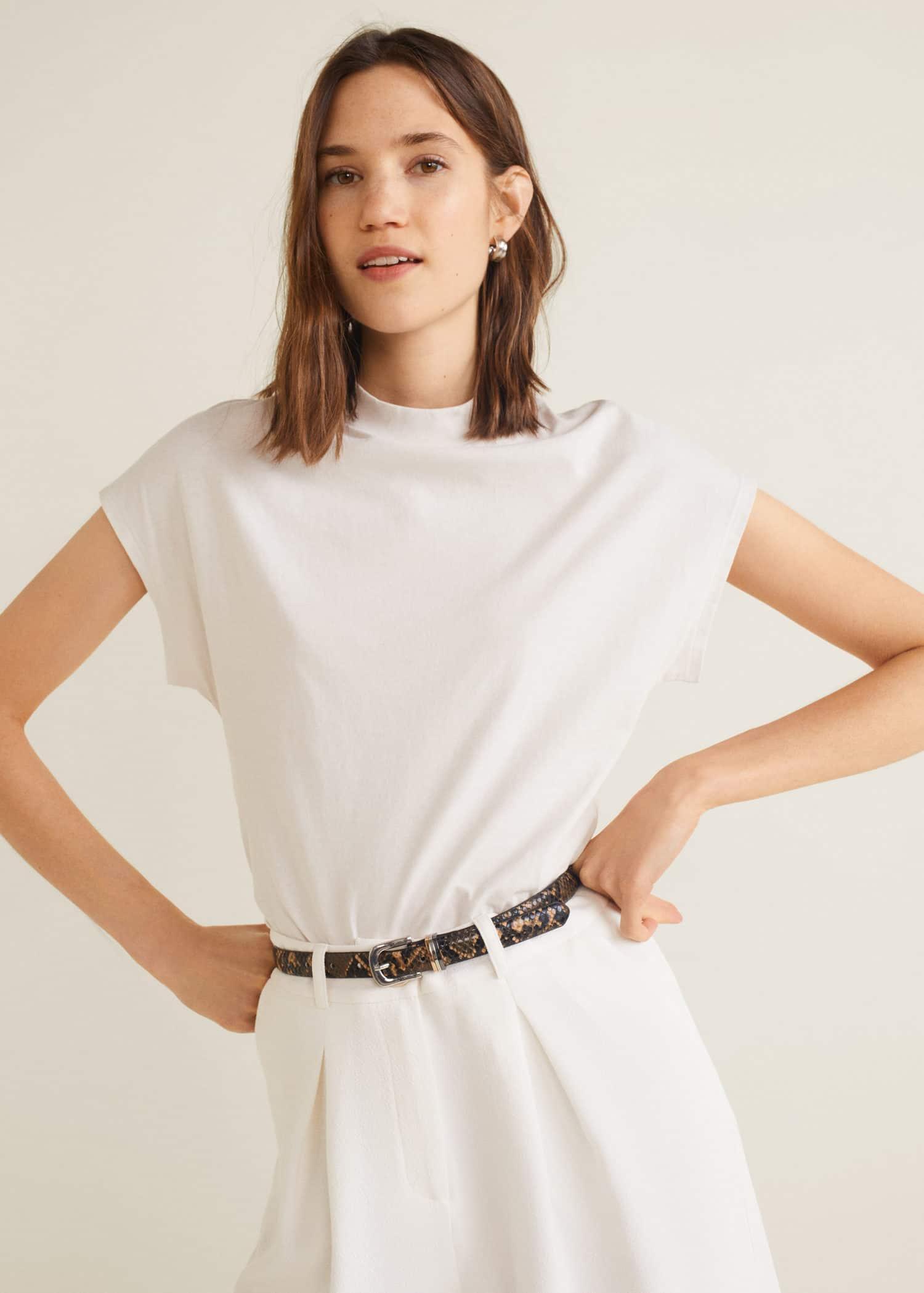 dd89c58f438c5 Kısa kollu - Tişört ve bluz - Kadın 2019 | Mango Türkiye