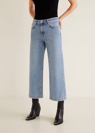 a52d36c458 Jeans relaxed Culotte - Plano medio