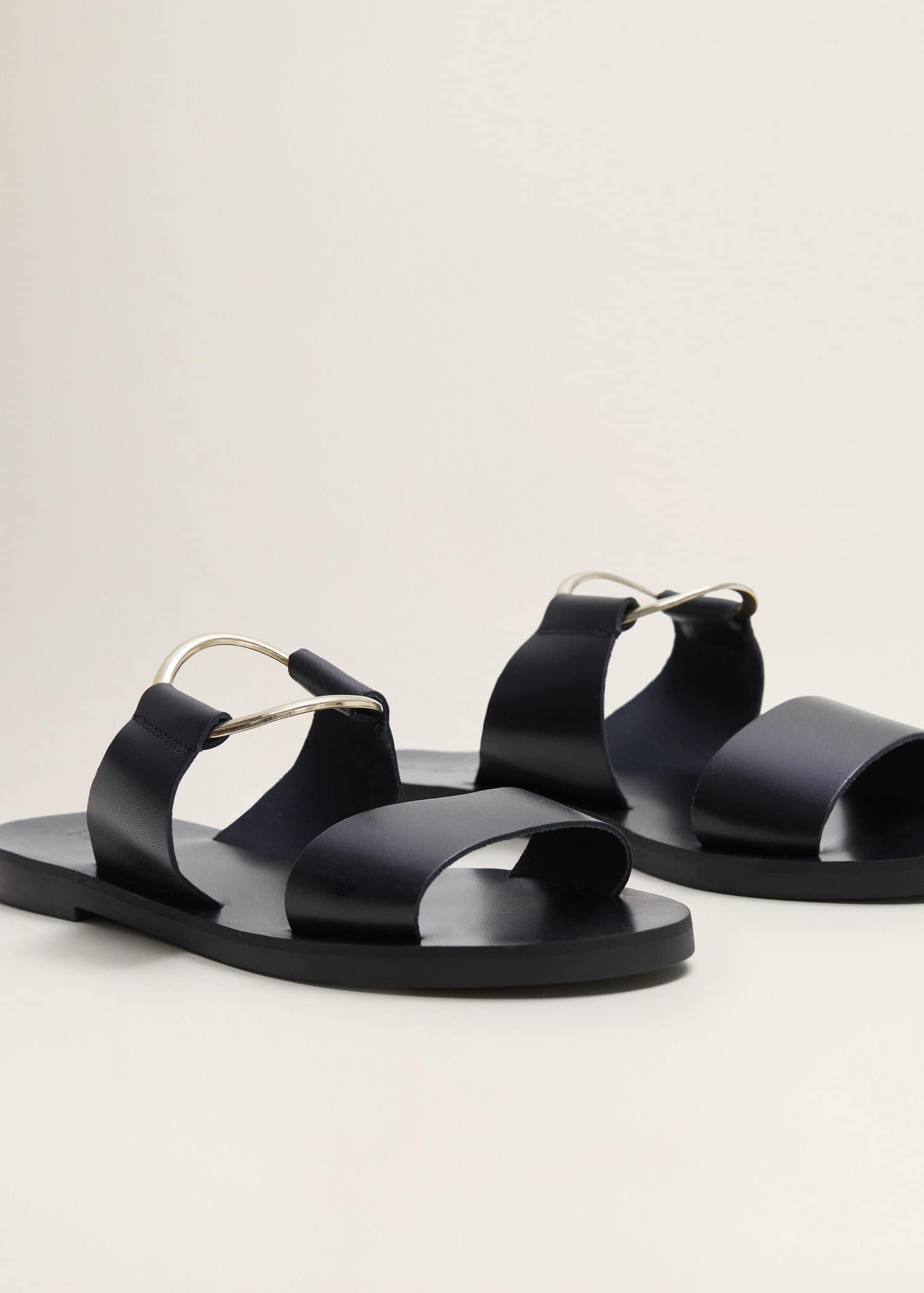 Sandals WomenMango Usa Ring Sandals Ring Leather Leather FlKc3u1TJ5