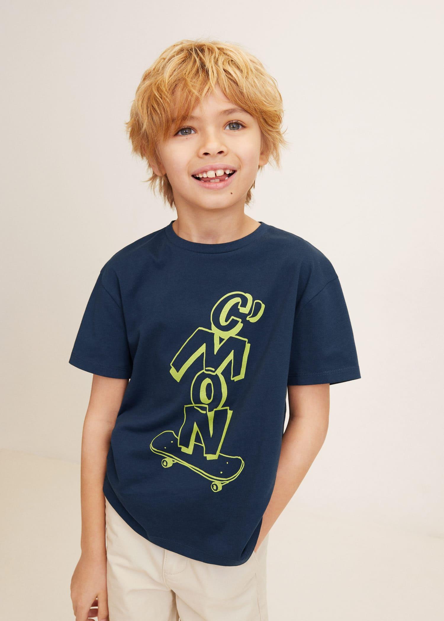 Mønstrete t skjorte i bomull Gutt   OUTLET Norge