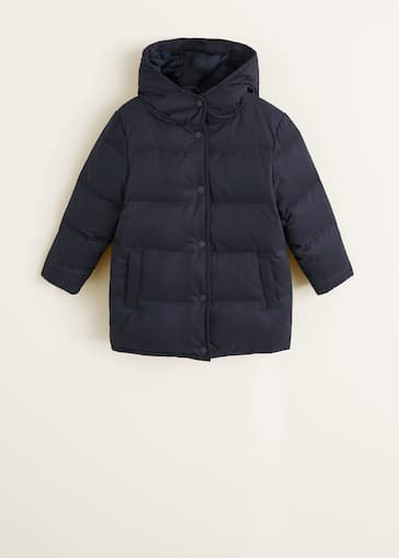 online store 1568a ebaa3 Feather down hooded coat