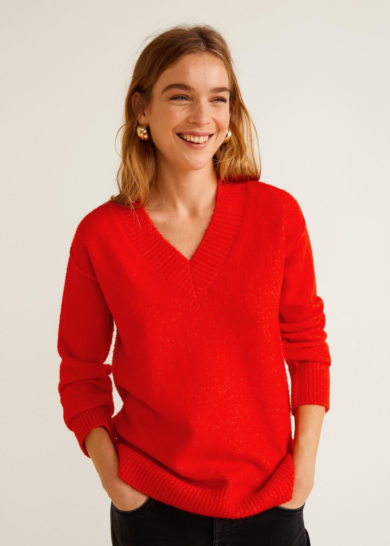 pullover mit v ausschnitt damen