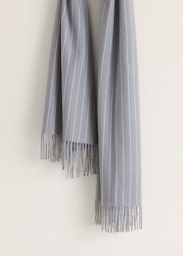 7bd0fa1296a Écharpe à rayures bicolores - Femme
