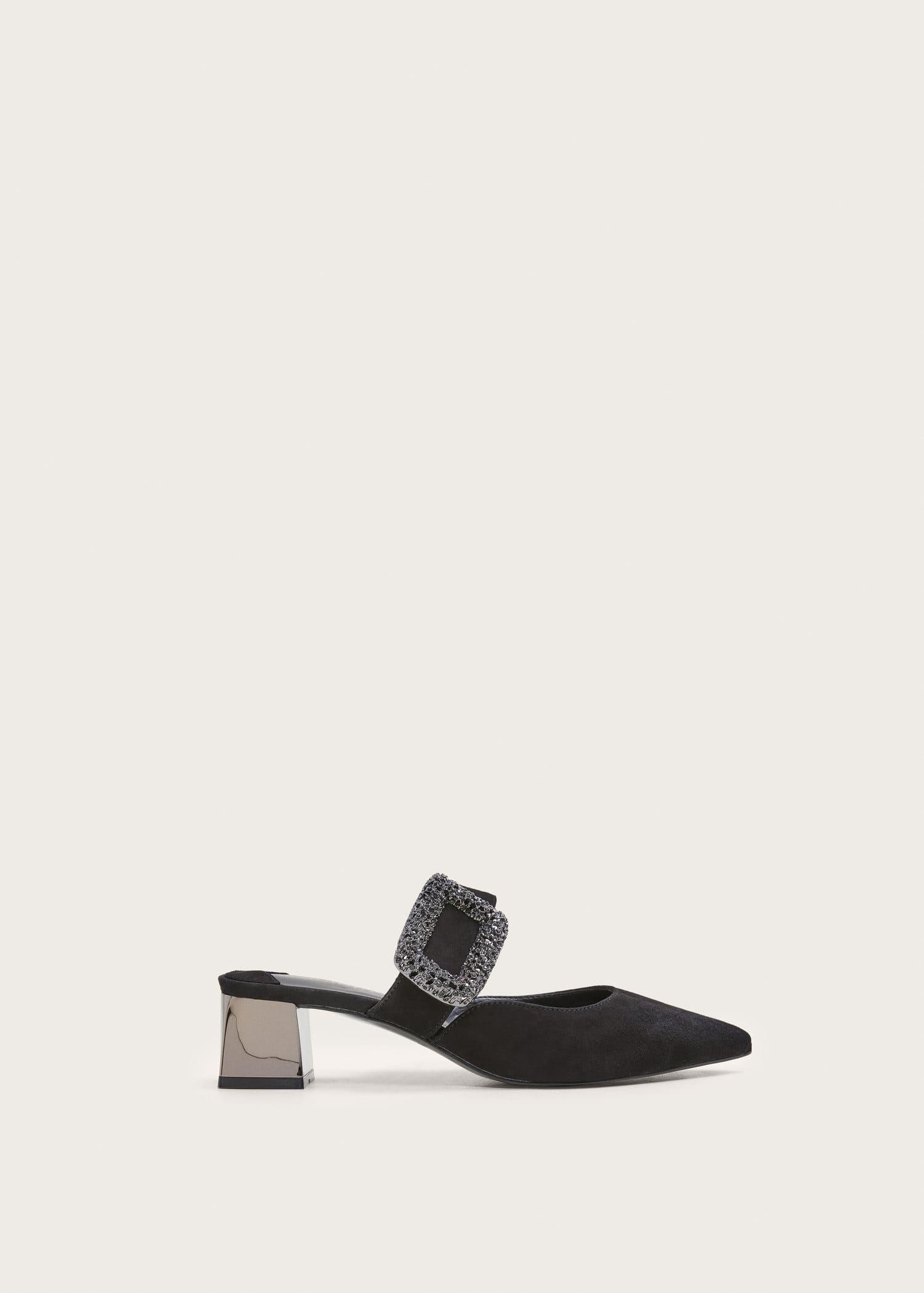 Zapato piel strass Tallas grandes   Violeta by MANGO USA
