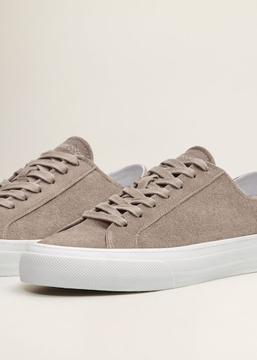 premium selection 93e55 cfc97 Lace-up suede sneakers