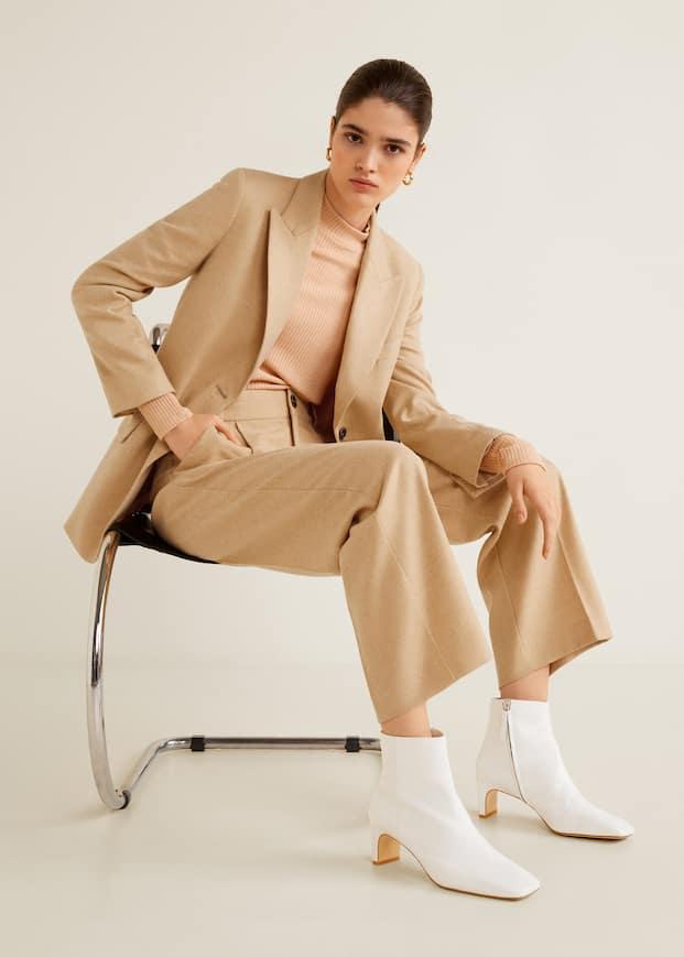 Wool Suit Pants by Mango